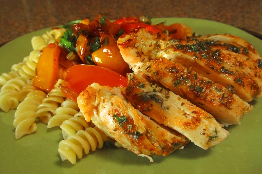 Mediterranean Style Chicken Breasts